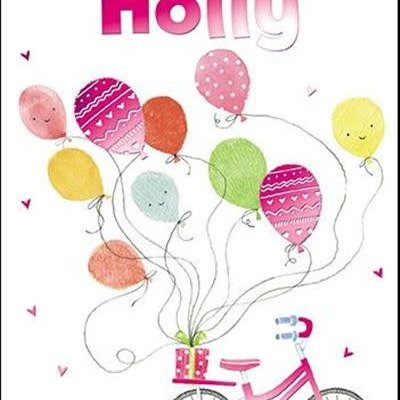 Treats & Smiles Personalised Birthday Card - Holly