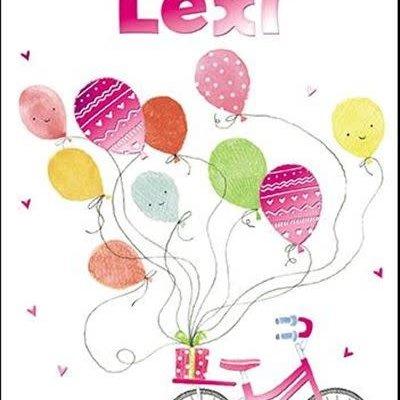 Treats & Smiles Personalised Birthday Card - Lexi