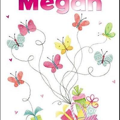 Treats & Smiles Personalised Birthday Card - Megan