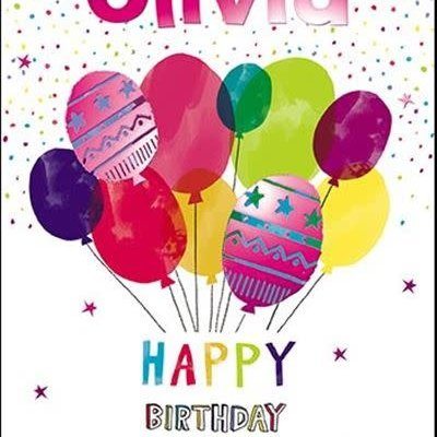 Treats & Smiles Personalised Birthday Card - Olivia