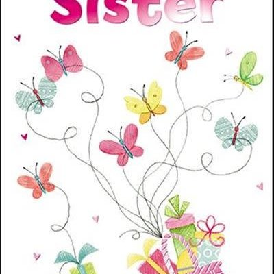 Treats & Smiles Personalised Birthday Card - Sister