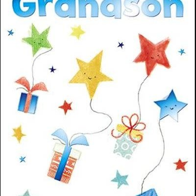 Treats & Smiles Personalised Birthday Card - Grandson