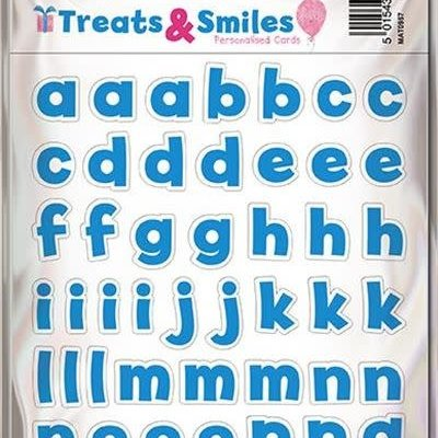 Treats & Smiles Alphabet Stickers - Blue