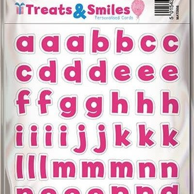 Treats & Smiles Alphabet Stickers - Pink