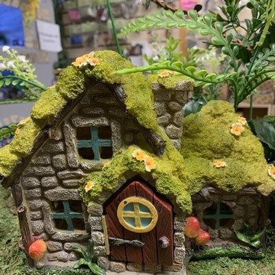 Stone Effect Fairy House - LED Light Up
