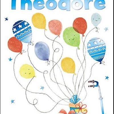 Treats & Smiles Personalised Birthday Card - Theodore