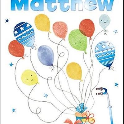Treats & Smiles Personalised Birthday Card - Matthew