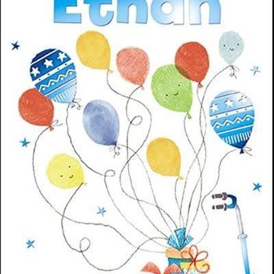 Treats & Smiles Personalised Birthday Card - Ethan