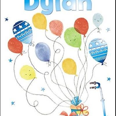 Treats & Smiles Personalised Birthday Card - Dylan