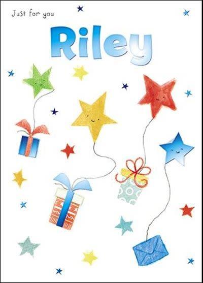Treats & Smiles Personalised Birthday Card - Riley