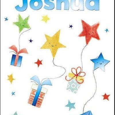 Treats & Smiles Personalised Birthday Card - Joshua