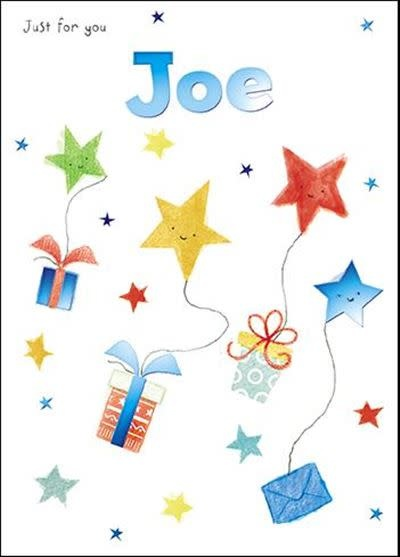 Treats & Smiles Personalised Birthday Card - Joe