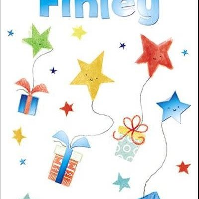 Treats & Smiles Personalised Birthday Card - Finley