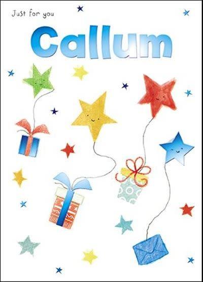 Treats & Smiles Personalised Birthday Card - Callum