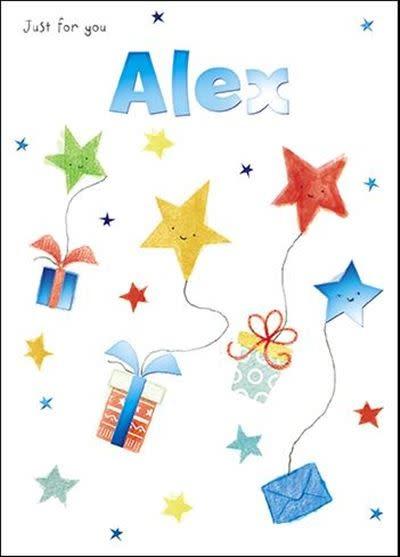 Treats & Smiles Personalised Birthday Card - Alex