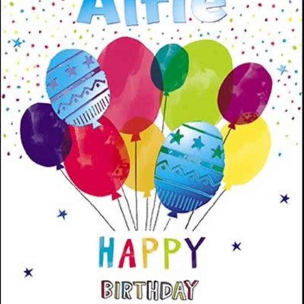 Treats & Smiles Personalised Birthday Card - Alfie