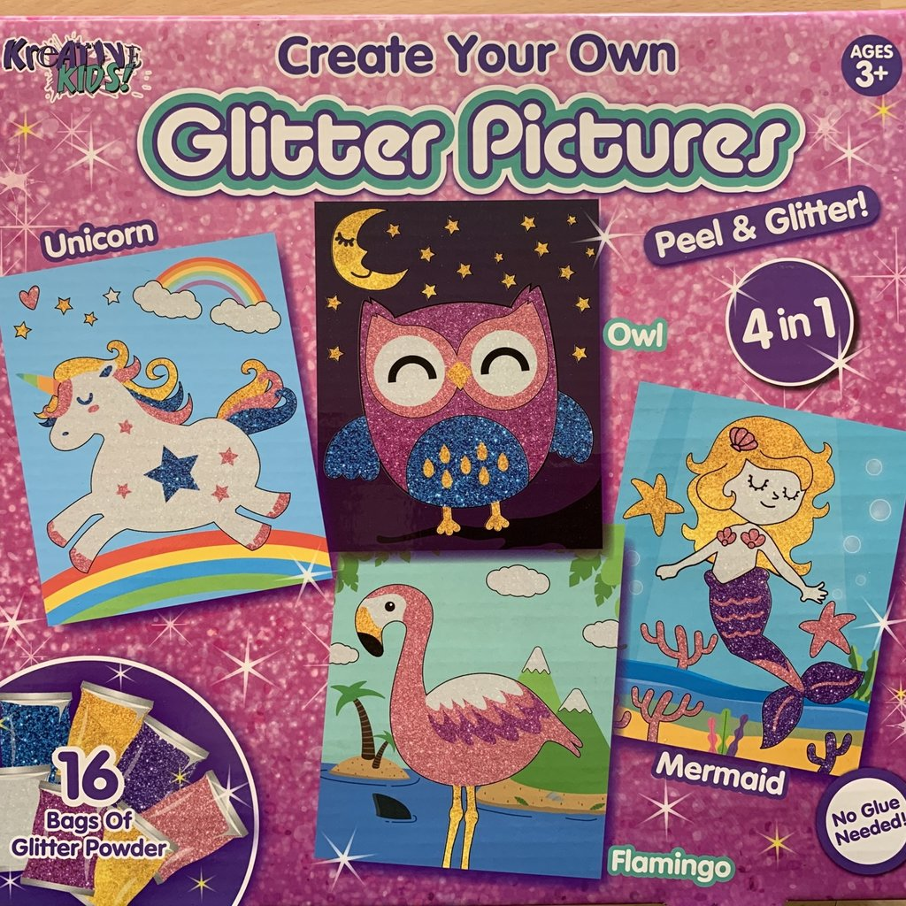 Kreative Kids Create Your Own Glitter Pictures 4 in 1