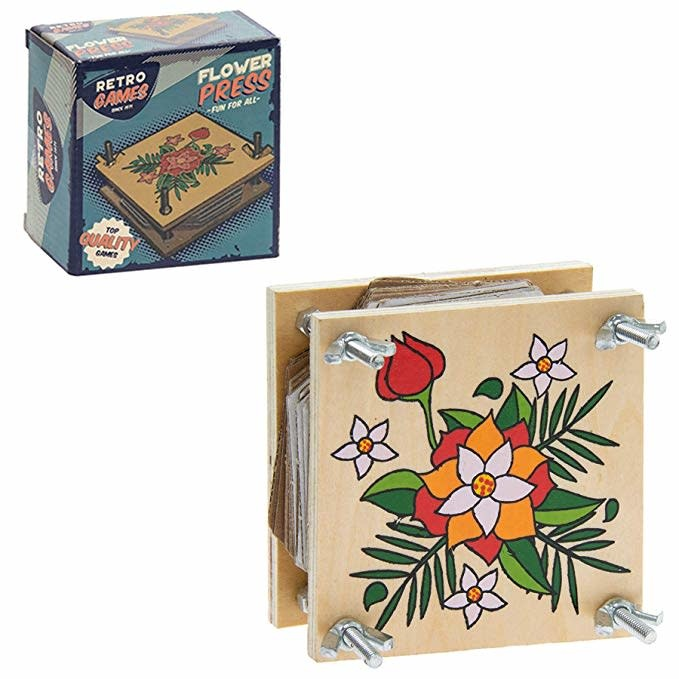 Retro Games Retro Style Flower Press