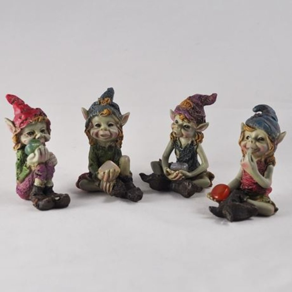 The Pixies Pixie Children of the Forest - Blue and Purple Hat