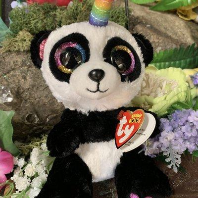 Ty Beanie Boo - Paris the Panda with Horn