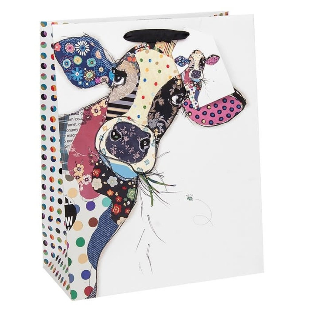 Bug Art Bug Art Kooks Connie Cow - Gift Bag - Medium