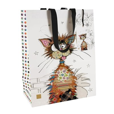 Bug Art Bug Art Kooks Ziggy Cat - Gift Bag - Medium