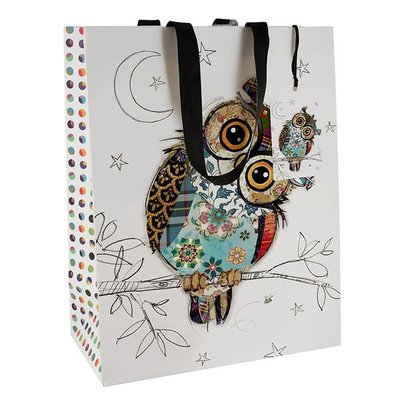 Bug Art Bug Art Kooks Owen Owl - Gift Bag - Medium