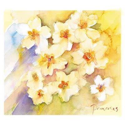Almanac Art Easter Greeting Card - Primroses