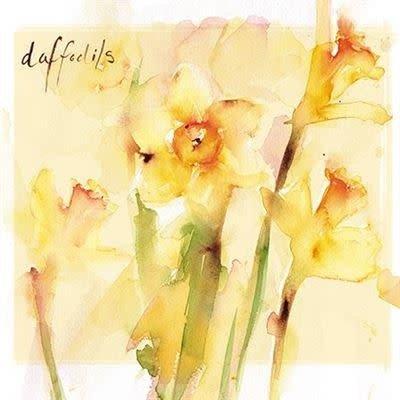 Almanac Art Easter Greeting Card - Daffodils