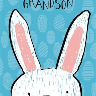 Paper House Easter Greeting Card - To A Dear Grandson