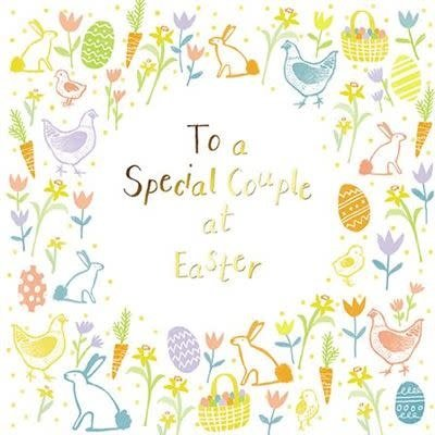 Paper House Easter Greeting Card - To a Special Couple at Easter