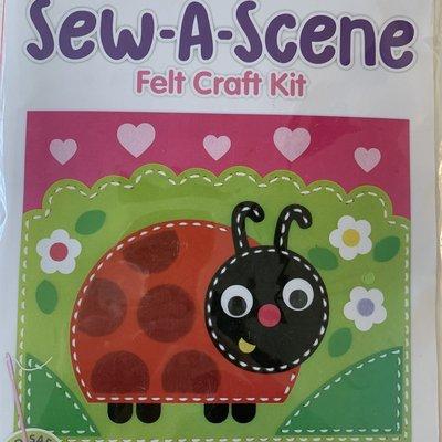 Kreative Kids Sew a Scene Felt Craft Kit - Ladybug