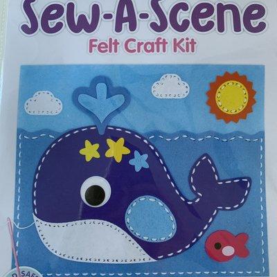 Kreative Kids Sew a Scene Felt Craft Kit - Whale