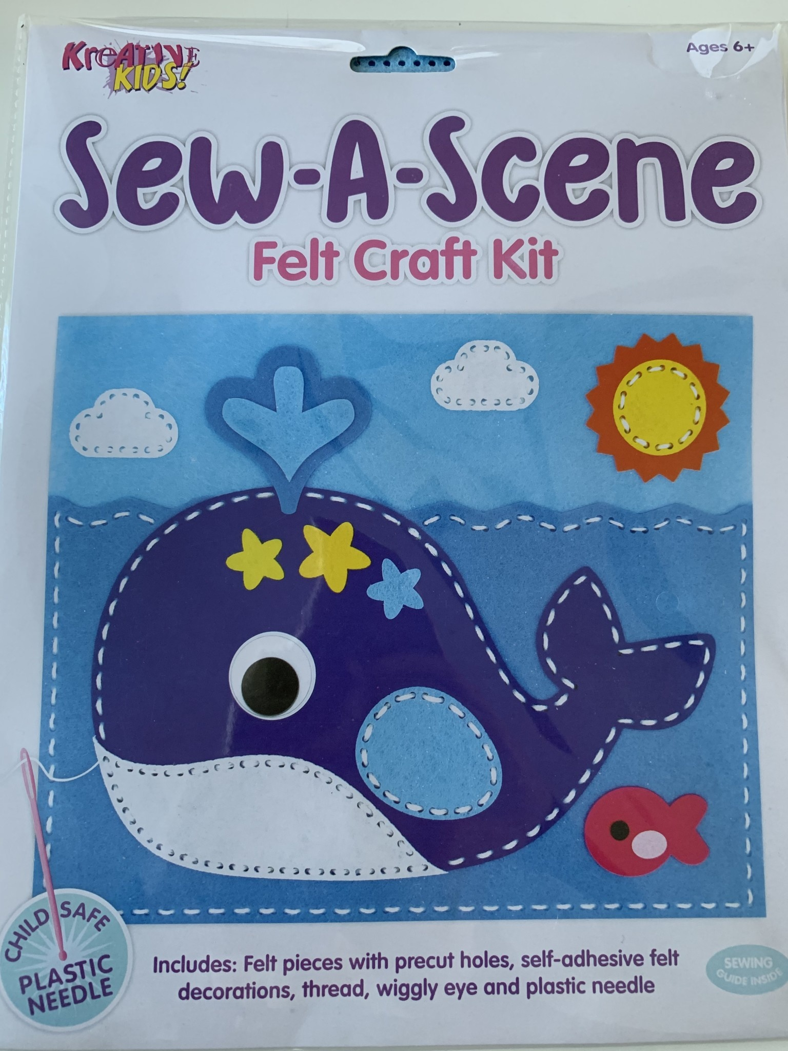 Choice of 4 Kreative Kids Sew-a-Scene Felt Craft Pack