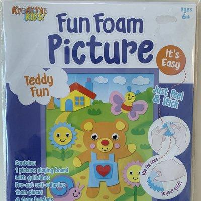 Kreative Kids Fun Foam Picture - Teddy Fun