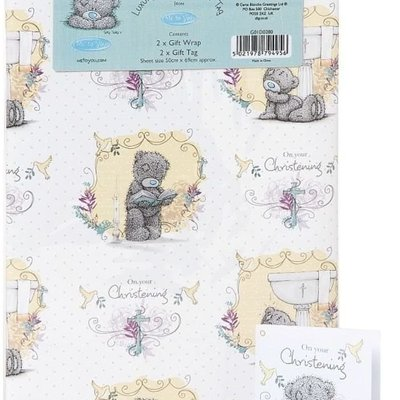 Tatty Ted Christening - Gift Wrap Pack