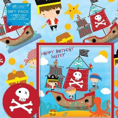 Pirates - Gift Wrap & Card Pack