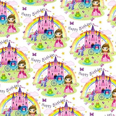 Gift maker collection Princess, Unicorn & Rainbow - Gift Wrap & Tag Pack