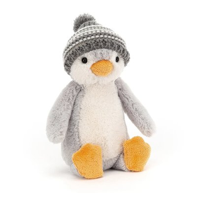 Jellycat - Jingle Jingle Jellycat - Bashful Bobble Hat Penguin Grey