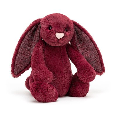 Jellycat - Jingle Jingle Jellycat - Bashful Sparkly Cassis Bunny - Medium