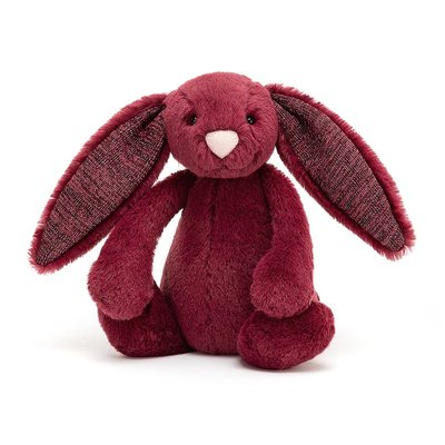 Jellycat - Jingle Jingle Jellycat - Bashful Sparkly Cassis Bunny - Small
