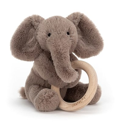 Jellycat - Baby Gift Jellycat - Shooshu Elephant Wooden Ring Toy