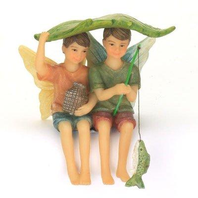 Fairy Village Boys Fishing - Fairies