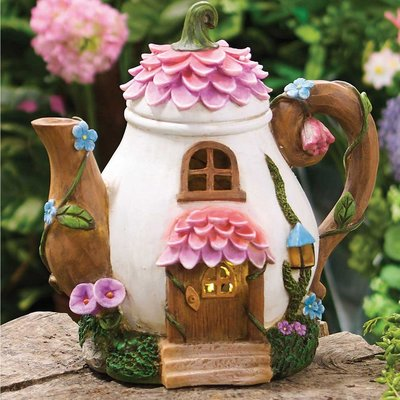 Solar Blossom Trunk Teapot House