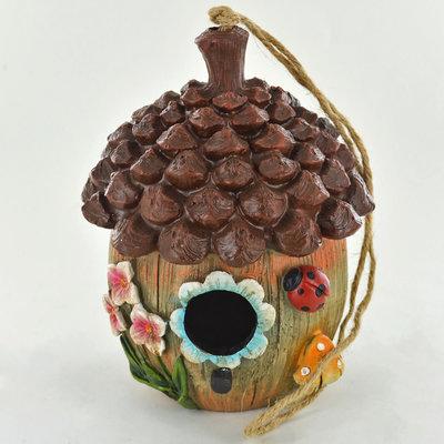 Garden Miniatures Bird House Floral Acorn