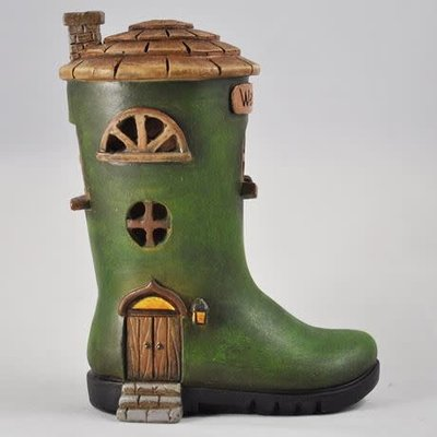 Fiesta Studios Wellington Boot Fairy House with Lights
