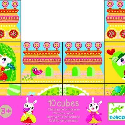 Djeco Djeco Princess Castle 10 Cubes Puzzle