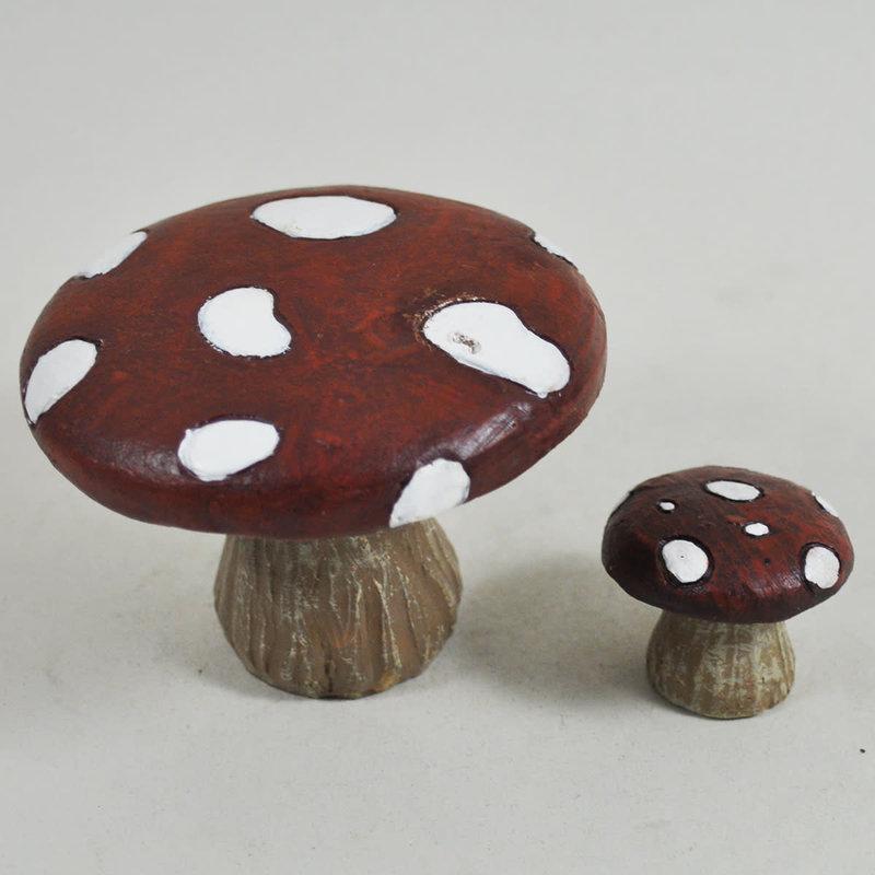 Garden Miniatures Mushroom Table & Stool Set