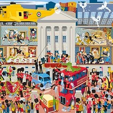 Gibsons Lifting The Lid - Buckingham Palace Puzzle - 1000pcs