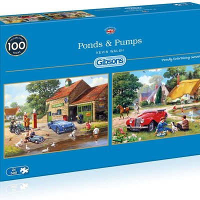 Gibsons Ponds & Pumps Puzzles - 2 x 500pcs